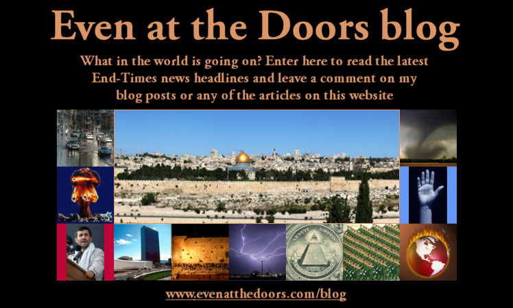 Image of Jerusalem and various end-times photos linking to my End-Times blog