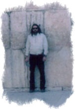 Photo of me standing in front of the Western or Wailing Wall in Jerusalem linking to a photo album of my 1986 trip to Israel
